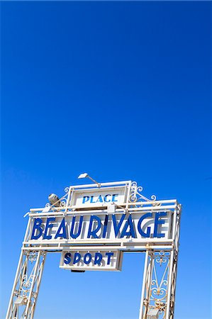 french (places and things) - Beau Rivage beach sign, Nice, Alpes Maritimes, Provence, Cote d'Azur, French Riviera, France, Europe Stock Photo - Rights-Managed, Code: 841-07205919