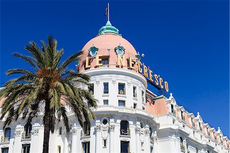 Hotel Negresco, Promenade des Anglais, Nice, Alpes Maritimes, Provence, Cote d'Azur, French Riviera, France, Europe Stock Photo - Rights-Managed, Code: 841-07205924