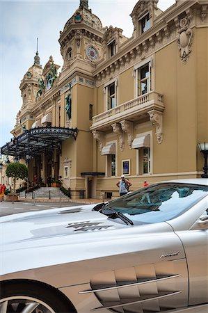 Exotic sports car outside Casino de Monte-Carlo, Monaco, Europe Stock Photo - Rights-Managed, Code: 841-07205928
