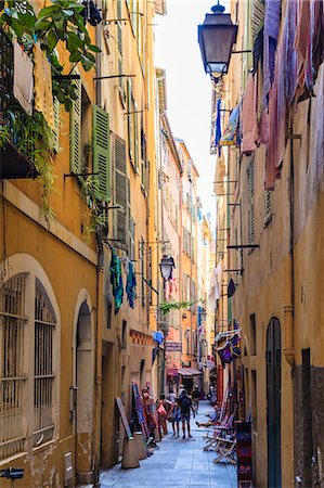 french (places and things) - The Old Town, Nice, Alpes-Maritimes, Provence, Cote d'Azur, French Riviera, France, Europe Stock Photo - Rights-Managed, Code: 841-07205950