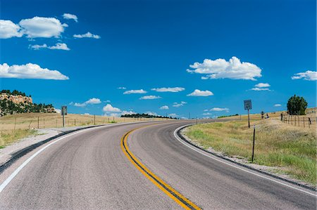 Road leading to the Devils Tower National Monument, Wyoming, United States of America, North America Stock Photo - Rights-Managed, Code: 841-07205979