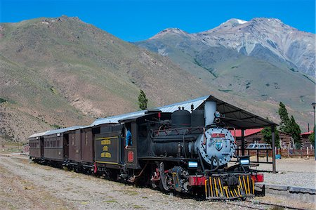 steam engine - La Trochita, the Old Patagonian Express between Esquel and El Maiten in Chubut Province, Patagonia, Argentina, South America Stock Photo - Rights-Managed, Code: 841-07206091