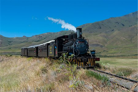 steam engine - La Trochita, the Old Patagonian Express between Esquel and El Maiten in Chubut Province, Patagonia, Argentina, South America Stock Photo - Rights-Managed, Code: 841-07206093