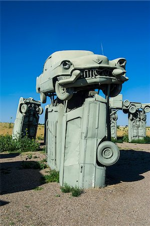 represented - Carhenge, a replica of England's Stonehenge, made out of cars near Alliance, Nebraska, United States of America, North America Stock Photo - Rights-Managed, Code: 841-07206115