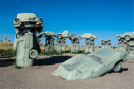 represented - Carhenge, a replica of England's Stonehenge, made out of cars near Alliance, Nebraska, United States of America, North America Stock Photo - Rights-Managed, Code: 841-07206117