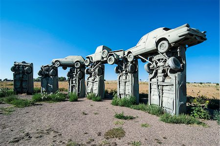 represented - Carhenge, a replica of England's Stonehenge, made out of cars near Alliance, Nebraska, United States of America, North America Stock Photo - Rights-Managed, Code: 841-07206118