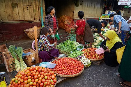 places - Vegetable market, Bogyoke Aung San market, Yangon (Rangoon), Myanmar (Burma), Asia Stock Photo - Rights-Managed, Code: 841-07206144
