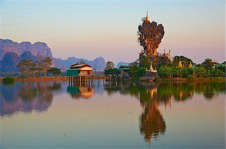 rock - Kyauk Kalap Monastery, Hpa-An, Karen State, Myanmar (Burma), Asia Stock Photo - Rights-Managed, Code: 841-07206192