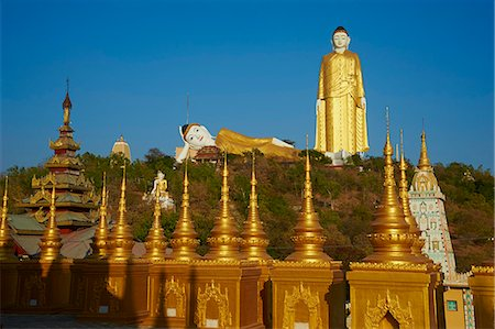 Bodhi Tataung, Buddha statue of 129 m high, and reclining Buddha, Monywa, Sagaing Division, Myanmar (Burma), Asia Stock Photo - Rights-Managed, Code: 841-07206277