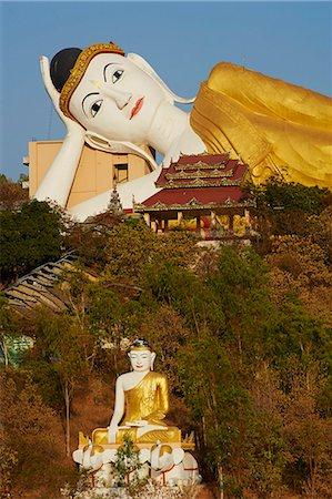Reclining Buddha, Bodhi Tataung, Monywa, Sagaing Division, Myanmar (Burma), Asia Stock Photo - Rights-Managed, Code: 841-07206280