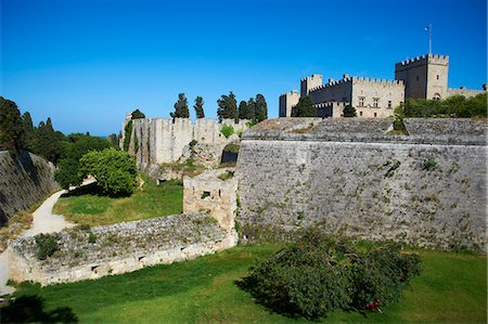 Fortress and Palace of the Grand Masters, UNESCO World Heritage Site, Rhodes City, Rhodes, Dodecanese, Greek Islands, Greece, Europe Stock Photo - Rights-Managed, Code: 841-07206298