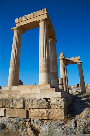 Acropolis, Lindos, Rhodes, Dodecanese, Greek Islands, Greece, Europe Stock Photo - Rights-Managed, Code: 841-07206316