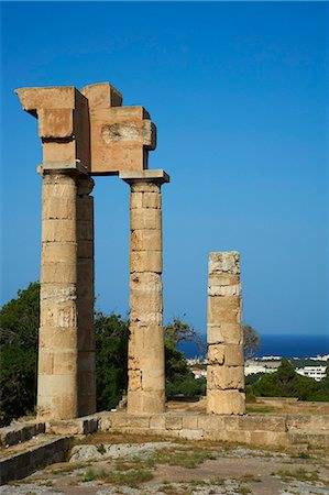 Apollo Temple, Acropolis, Rhodes City, Island of Rhodes, Dodecanese, Greek Islands, Greece, Europe Stock Photo - Rights-Managed, Code: 841-07206311