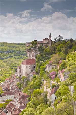 france - The ancient village of Rocamadour, a pilgrimage destination, in the Lot area, France, Europe Stock Photo - Rights-Managed, Code: 841-07206495