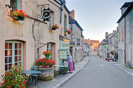 france - The main street in the village of Vezelay in the Yonne area of Burgundy, France, Europe Stock Photo - Rights-Managed, Code: 841-07206547