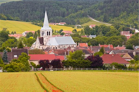 The village of Ricey Haut in the Champagne area, France, Europe Stock Photo - Rights-Managed, Code: 841-07206563