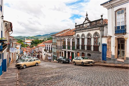 Streets, Ouro Preto, UNESCO World Heritage Site, Minas Gerais, Brazil, South America Stock Photo - Rights-Managed, Code: 841-07201483