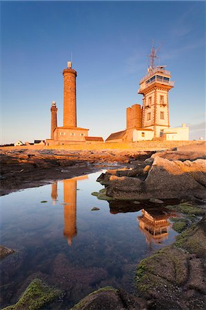The Lighthouse of Phare d'Eckmuhl, Penmarc'h, Finistere, Brittany, France, Europe Stock Photo - Rights-Managed, Code: 841-07201539