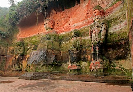 Oriental Buddha Park, Leshan, Lingyun Shan Mountain, Sichuan, China, Asia Stock Photo - Rights-Managed, Code: 841-07202112