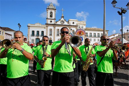 Brass band at Salvador carnival in Pelourinho, Bahia, Brazil, South America Stock Photo - Rights-Managed, Code: 841-07202313