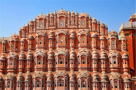 Hawa Mahal (Palace of Winds), built in 1799, Jaipur, Rajasthan, India, Asia Stock Photo - Rights-Managed, Code: 841-07202346