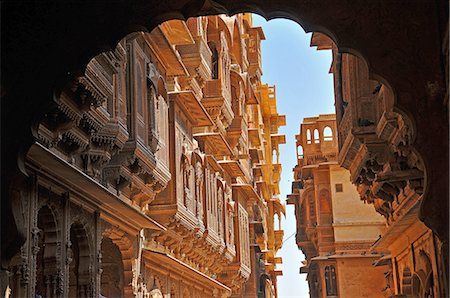 Patwa havelis, renowned private mansion in Jaisalmer, Rajasthan, India, Asia Stock Photo - Rights-Managed, Code: 841-07202340