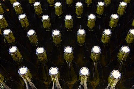 Unlabelled wine bottles, France, Europe Stock Photo - Rights-Managed, Code: 841-07202667