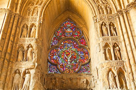 High relief sculptures inside Notre Dame de Reims cathedral, UNESCO World Heritage Site, Reims, Champagne-Ardenne, France, Europe Stock Photo - Rights-Managed, Code: 841-07202672