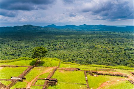 Ruins of King Kassapa's Palace at the top of Sigiriya Rock Fortress (Lion Rock), UNESCO World Heritage Site, Sigiriya, Sri Lanka, Asia Stock Photo - Rights-Managed, Code: 841-07354773