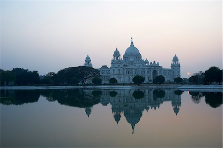 Victoria Memorial, Chowringhee, Kolkata (Calcutta), West Bengal, India, Asia Stock Photo - Rights-Managed, Code: 841-07354955