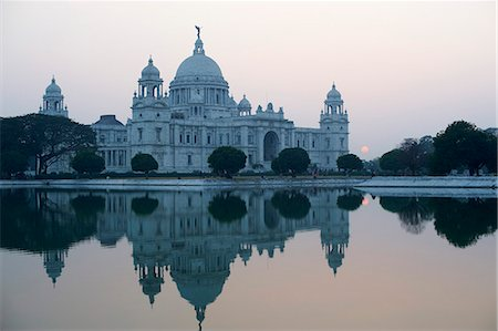 Victoria Memorial, Chowringhee, Kolkata (Calcutta), West Bengal, India, Asia Stock Photo - Rights-Managed, Code: 841-07354956