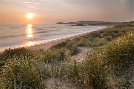Sunset over Constantine Bay in North Cornwall, England, United Kingdom, Europe Stock Photo - Rights-Managed, Code: 841-07355179