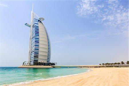 Burj Al Arab Hotel, Jumeirah Beach, Dubai, United Arab Emirates, Middle East Stock Photo - Rights-Managed, Code: 841-07355216