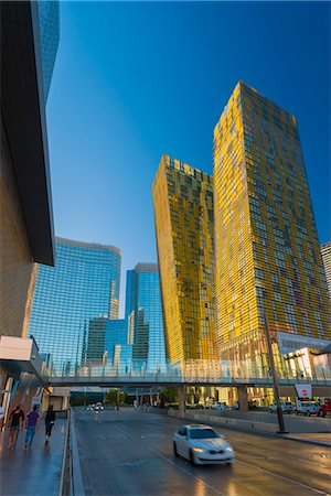 CityCenter, Aria Resort and Casino, Veer Towers on right, The Strip, Las Vegas, Nevada, United States of America, North America Stock Photo - Rights-Managed, Code: 841-07355232