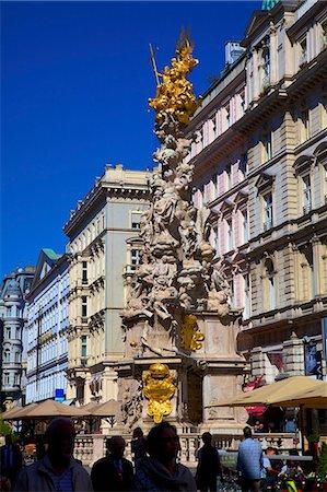 Plague Column, Graben, Vienna, Austria, Europe Stock Photo - Rights-Managed, Code: 841-07457115