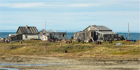 Doubtful Village, Wrangel Island, UNESCO World Heritage Site, Chuckchi Sea, Russian Far East, Russia, Europe Stock Photo - Rights-Managed, Code: 841-07457139