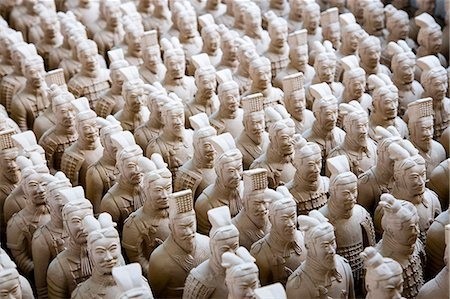 Terracotta Warrior souvenirs being made in factory, Xian, China Stock Photo - Rights-Managed, Code: 841-07457194