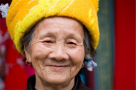 Woman from Zhuang Minority Group, Ping An, near Guilin, China Stock Photo - Rights-Managed, Code: 841-07457201