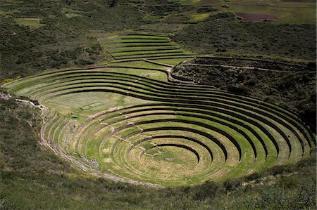 peru and culture - Inca agricultural research station, Moray, Peru, South America Stock Photo - Rights-Managed, Code: 841-07457316