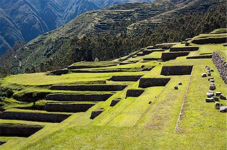peru and culture - Inca terracing, Chinchero, Peru, South America Stock Photo - Rights-Managed, Code: 841-07457313