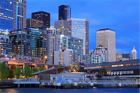 Seattle skyline, Washington State, United States of America, North America Stock Photo - Rights-Managed, Code: 841-07457489