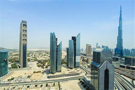 Burj Khalifa and city skyline, Dubai, United Arab Emirates, Middle East Stock Photo - Rights-Managed, Code: 841-07457556