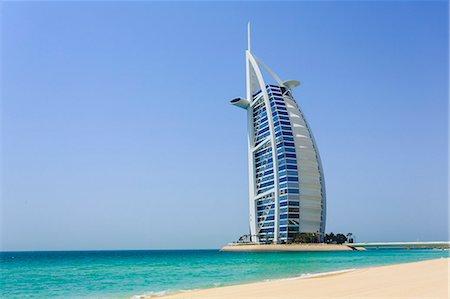 Burj Al Arab Hotel, Jumeirah Beach, Dubai, United Arab Emirates, Middle East Stock Photo - Rights-Managed, Code: 841-07457571
