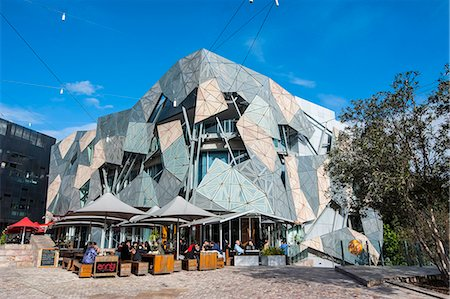 square - Australian Centre for the Moving Image at the Federation Square, Melbourne, Victoria, Australia, Pacific Stock Photo - Rights-Managed, Code: 841-07457665