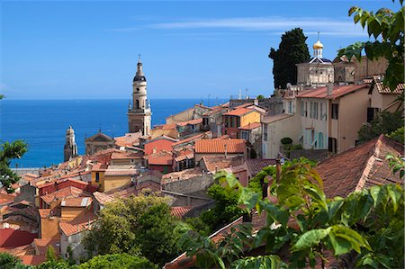 france - View over old town and port, Menton, Provence-Alpes-Cote d'Azur, Provence, France, Mediterranean, Europe Stock Photo - Rights-Managed, Code: 841-07457834