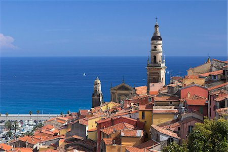 france - View over old town and port, Menton, Provence-Alpes-Cote d'Azur, Provence, France, Mediterranean, Europe Stock Photo - Rights-Managed, Code: 841-07457832