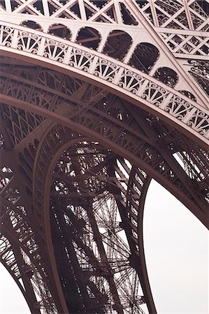 Abstract of the Eiffel Tower in Paris, France, Europe Stock Photo - Rights-Managed, Code: 841-07524046