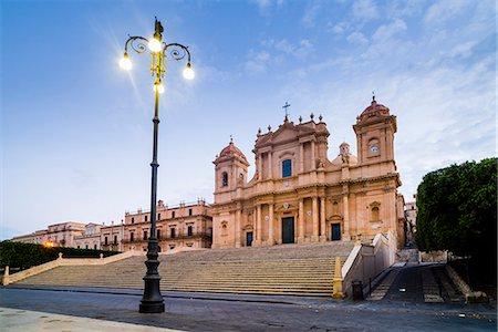 Duomo (Noto Cathedral) (St. Nicholas Cathedral) (Cattedrale di Noto), Piazza Municipio, Noto, Val di Noto, UNESCO World Heritage Site, Sicily, Italy, Europe Stock Photo - Rights-Managed, Code: 841-07523229