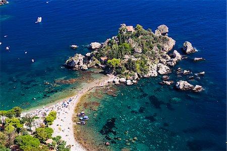 Tourists on Isola Bella Beach, Taormina, Sicily, Italy, Mediterranean, Europe Stock Photo - Rights-Managed, Code: 841-07523281