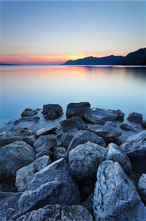 rock - Coastal scenery at sunset, Makarska Riviera, Dalmatia, Croatia, Europe Stock Photo - Rights-Managed, Code: 841-07523419